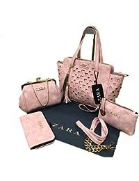 Zara Pink Handbag Combo For Woman With Sling Bag/Zara Set Of 4 Handbag For Women And Girls Stylish Branded & Latest...