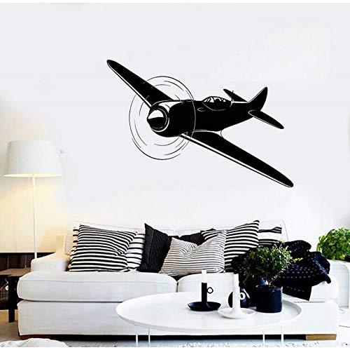 ZJfong 62x42cm Vinyl Wall Decal Flugzeug Flugzeug Flugzeug Pilot Aviator Aufkleber Einzigartig