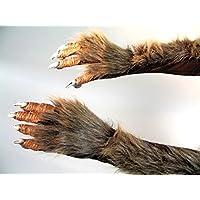 Griffes de loup-garou monstre velu gants crochet de lycanthrope longs poilus mains de loup