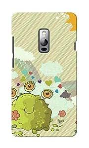 KnapCase Funny Monster Designer 3D Printed Case Cover For OnePlus Two