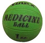 Robuster Gummimedizinball - 1 kg - grün