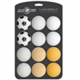 Goods & Gadgets 12x Stück Speedball Kickerbälle für Tischfussball Tischkicker Kicker-Ball Set Auswahl Verschiedene Sorten (Kork, PE, PU, ABS) 35mm