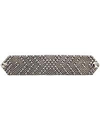 Bracciale in argento, stile antico B44, come SG Liquid Metal da Sergio Gutierrez & SG-Custodia e panno per la pulizia incluso