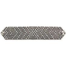 Pulsera de plata de envejecido b44-as SG Metal Líquido by Sergio Gutierrez SG –