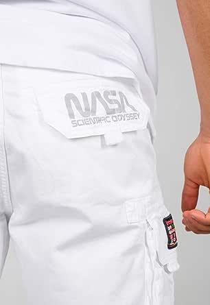 Alpha Industries Men Cargo Shorts NASA