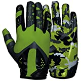 Best Football Gloves For Receivers - Prostyle, Sniper American football receiver gloves, neon green Review
