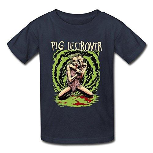 Goldfish Youth Art O Neck Pig Destroyer T-Shirt Large