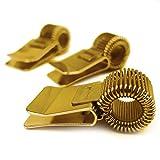 Metal Clip de bolígrafo soporte para portátil/portapapeles/diario/diario–Ideal para médicos/enfermeras/capataz/oficina–[Pack de 3]–oro