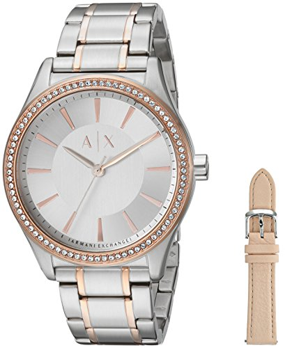 992f633f51de Armani Exchange Reloj Analogico para Mujer de Cuarzo con Correa en Acero  Inoxidable AX7103