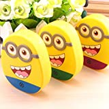#7: AGE CARE cute DIY New Sweet smile Minions Contact Lenses Box & Case/Contact lens Case