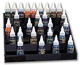 Display in schwarz für ca. 45 Tattoofarben aus Acryl Ink