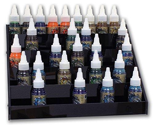 Display in schwarz für ca. 45 Tattoofarben (30 ml) aus Acryl Ink Display