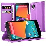 Cadorabo Custodia Libro per Motorola Nexus 5 in Violetta Ametista - con Vani di Carte, Funzione Stand e Chiusura Magnetica - Portafoglio Cover Case Wallet Book Etui Protezione