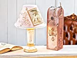 VBS-Lampenschirm-wei-oval-rund-verschiedene-Gren-blanko-Landhaus-Vintage-Stoff
