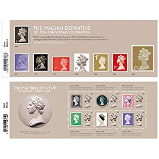 2017 Arnold Machin Definitives Anniversary - Gift Set of 2 Mini Sheets of Royal Mail Stamps