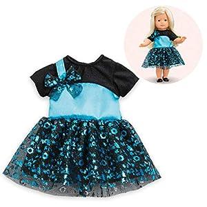 Corolle- MC Robe DE Bal Vestido, Color Azul, 0 (211000)