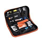 Lötkolben Set 17 in 1, Funkprofi 60 W 220 V Elektronik Lötkolben Kit Lötkolben Baugruppe, Inklusive 6 x Schweißen Hilfe (Gelb)