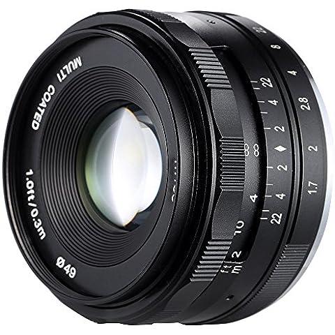 Meike–35mm F1.7Gran Apertura APS-C de enfoque manual lente de la cámara para Sony E Mount NEX3NEX5, NEX6, NEX7, A5000A5100A6000A6100A6300ILDC cámara sin espejo