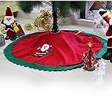 """Materiale: Tessuto non tessuto Colore: Rosso Dimensioni: 60/23.6""""funzione principale: è un ottimo modo per decorare la base del vostro albero di Natale con questa gonna albero di rosso. Catturare lo spirito di Natale con questa gonna albero ..."""
