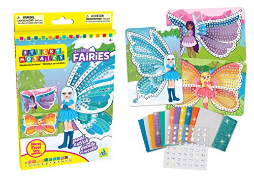 The Orb Factory Sticky Mosaics Sparkling Fairies Kit
