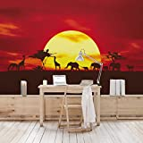 Apalis Vliestapete Nummer CG80 Sunset Caravan Fototapete Breit | Vlies Tapete Wandtapete Wandbild Foto 3D Fototapete für Schlafzimmer Wohnzimmer Küche | gelb, 98537