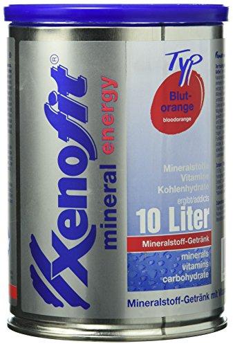 Xenofit MINERALSTOFF-GETRÄNK | mit Magnesium, Kalium, Zink und Eisen | mit Vitamin B1, B6 und C | fettfrei | glutenfrei | laktosefrei | vegan | mineral energy | 720g | Blutorange