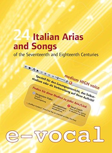 Preisvergleich Produktbild 24 Italian Songs and Arias,  Lern-DVDs für den Gesangsunterricht: 1. Videos mit Dirigent u. Klavierbegleitung,  2. Klavierbegleitung+Melodie,  3. Vocal Coach (im Rhythmus gesprochener Arientext),  Ausgabe: Medium High