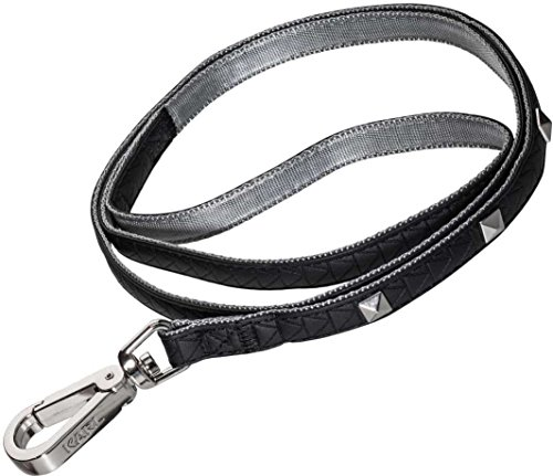 Karl Lagerfeld Haustiere Hundeleine, Hochwertige Leder Führleine Kleine Mittelgroße Hunde, Laufleine Schwarz, Größe: 20