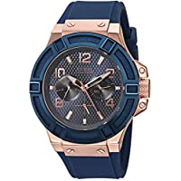 Guess Men's Quartz Watch, Analog Display and Leather Strap - U0247G3