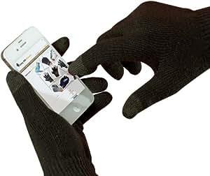 Gants d'écran tactile noir pour iPhone, iPad et tous les produits Apple.