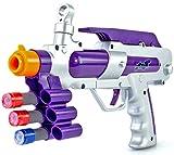 Nick and Ben Blaster Wipe Out Kreide, Silber/Violett Kreide Shooter Pistole mit Softpfeilen Schutzbrille und Zielscheibe