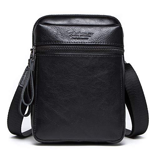 Imagen de lcdy bolso de cintura bolso de bandolera de cuero para hombre casual crossbody bolsa de cuero de primera capa para hombres maletín vintage18*6 * 13cm