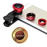 Lambent Universal 3 In 1 Cell Phone Camera Lens Kit -Fish Eye Lens/ 2 In 1 Macro Lens & Wide Angle Lens/ Universal Clip Compatible With All Android And IOS Device-Colour May Vary (one Year Warranty)