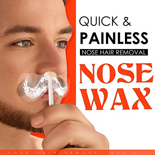 Cocohot Nasenhaare Wachs Haarentfernung, Nasen Wachs Kit für Männer und Frauen, Nasenhaarentfernung Wachs, Nasenhaar Prozessor Festwachs (Nase Für Haarentfernung)
