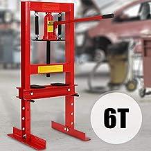 TIMBERTECH Prensa hidráulica de taller | 6T, con bomba hidraúlica y 2 placas ...