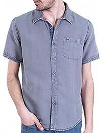 Unnati - Camisa algodón/Lino sobretintada