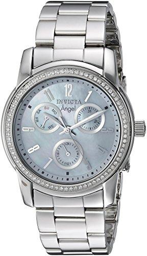 Invicta Women's Angel Steel Bracelet & Case Swiss Quartz Analog Watch 22680