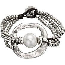 PULSERA UNO DE 50 (De perlas) PUL1130 ,19cm