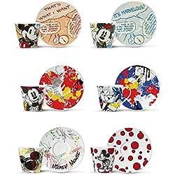 Disney, PWM06/1Z - Juego de 6tazas de café con diseño de Mickey Mouse