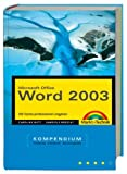 Word 2003 - Kompendium (Kompendium / Handbuch) - Caroline Butz, Gabriele Broszat