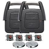 Repair Reparatur Satz Gehäuse Funkschlüssel Fernbedienung Autoschlüssel 2X 2 Tasten Gehäuse 4X Mikrotaster 2X CR2032 Batterie für Opel