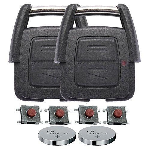 z Gehäuse Funkschlüssel Fernbedienung Autoschlüssel 2X 2 Tasten Gehäuse 4X Mikrotaster 2X CR2032 Batterie für Opel ()