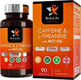 SmartBoost Caffeine Tablets + MCT + L Theanine [500mg], All-Day Energy - 90