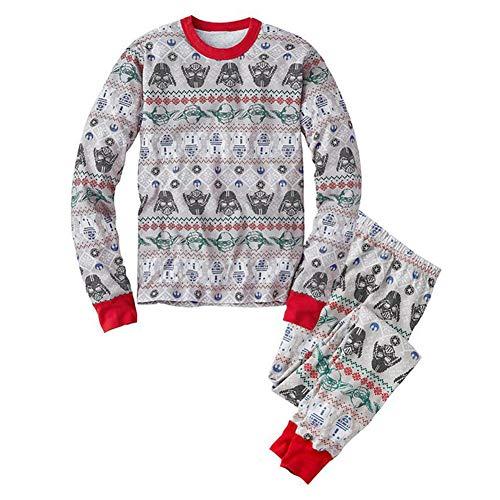 Hzjundasi Familie Matching Weihnachten Pyjama Set Schlafanzüge - Xmas Lange Ärmel Drucken Tops und Hose Nachtwäsche für Familie