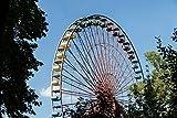 Pixblick - Riesenrad im alten Spreepark in Berlin - Hochwertiges Wandbild - Hartschaumplatte 30 x 20 cm