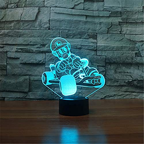 WJPDELP-YEDE USB Cartoon Charakter tischlampe 3D LED Schlafzimmer dekor Beleuchtung 7 Farben ändern r1 Auto nachtlicht Kind Urlaub Geschenke -