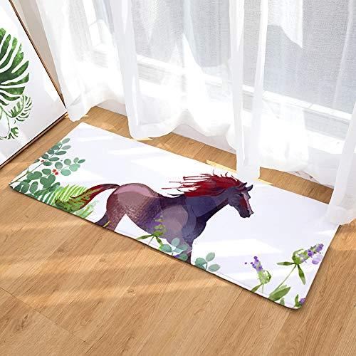 XINJIA Bodenmatte Außenteppiche Tier-Haustürmatten rutschfeste, rutschfeste, wasserabsorbierende Teppiche im Cartoon-Stil mit Tiermotiven und Tiermotiven