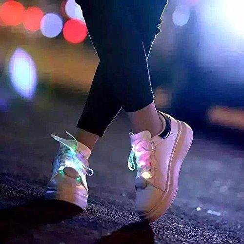 ecotrumpuk neuen Licht bis LED Schnürsenkel Flash Party Glowing Nacht Sport Schnürsenkel 3#