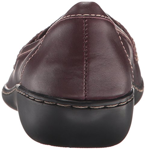 Clarks Ashland Bubble Toe Moc Leather Loafer Burgundy