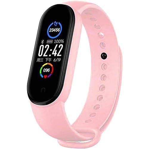 YONGQING Braccialetto Impermeabile M5 Smart Band Bluetooth Fitness Tracker Pedometro per cardiofrequenzimetro a Pressione sanguigna per Donne, Uomini e Bambini